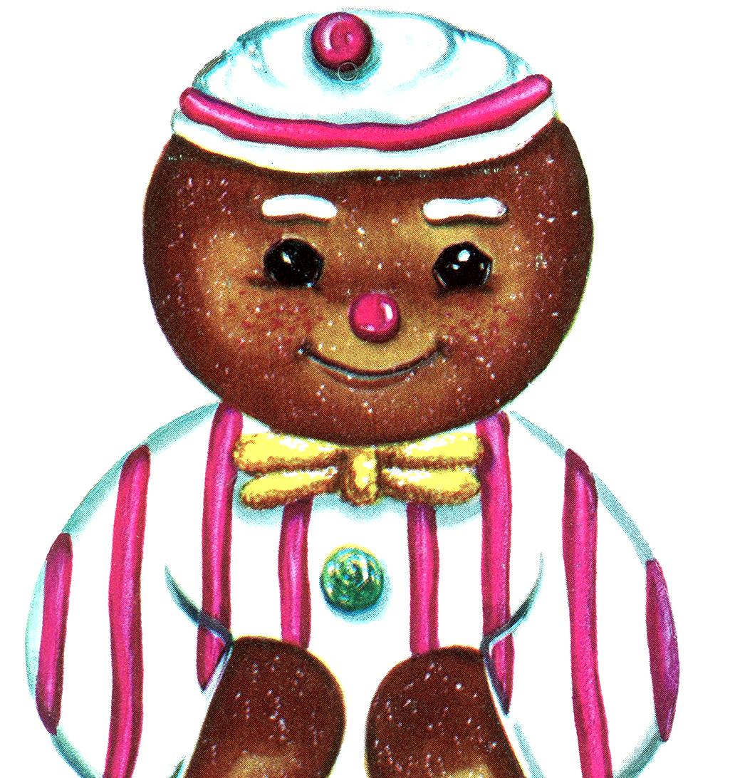 printable ornaments gingerbread man u0026 retro bird the graphics fairy