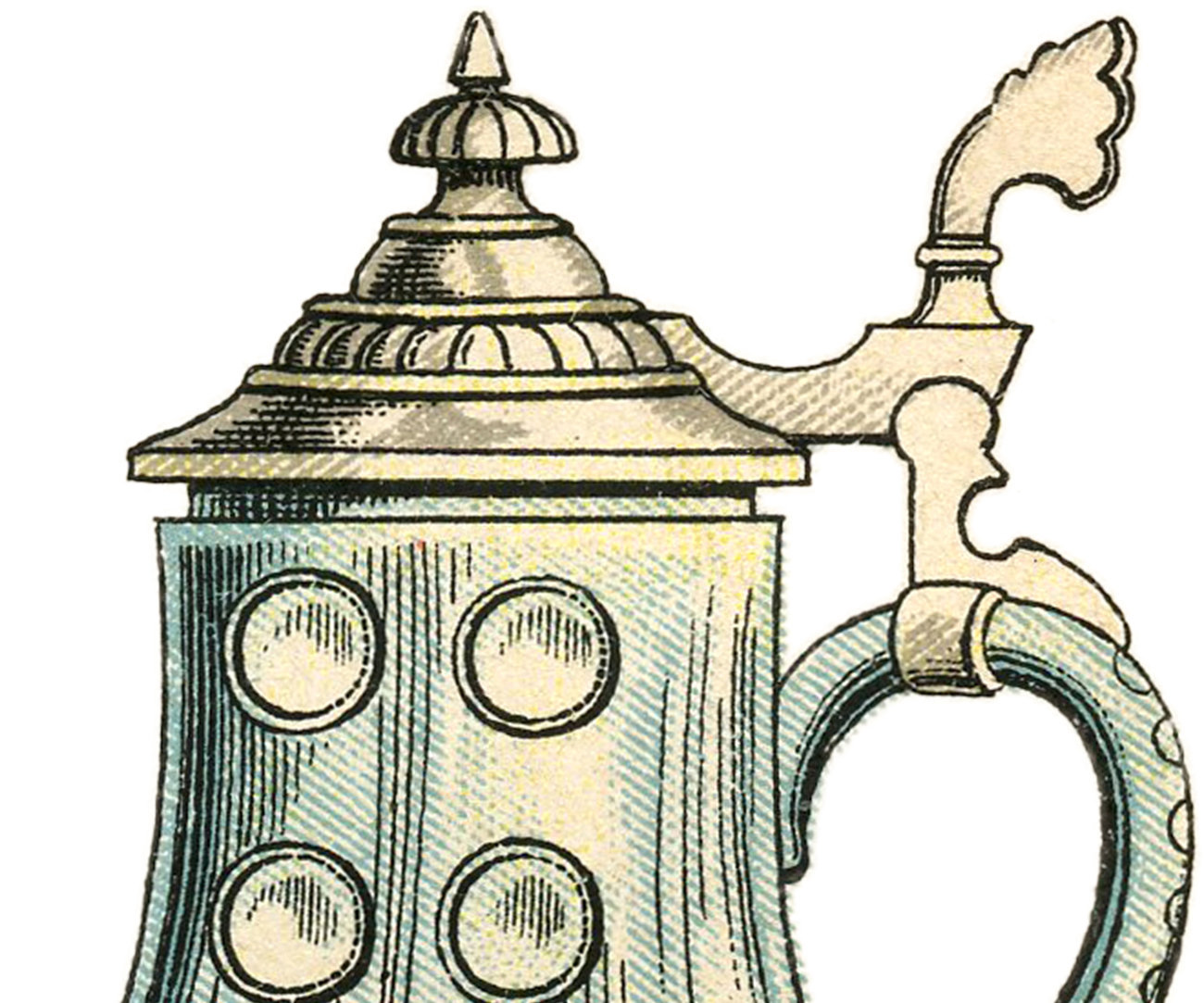 Public Domain Beer Stein Image - The Graphics Fairy