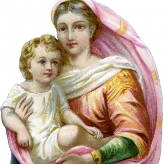 Beautiful Madonna with Child Image