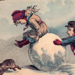 Vintage Snow Ball Image