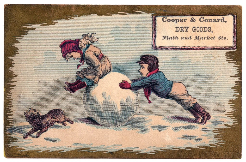 Vintage Snow Ball Image
