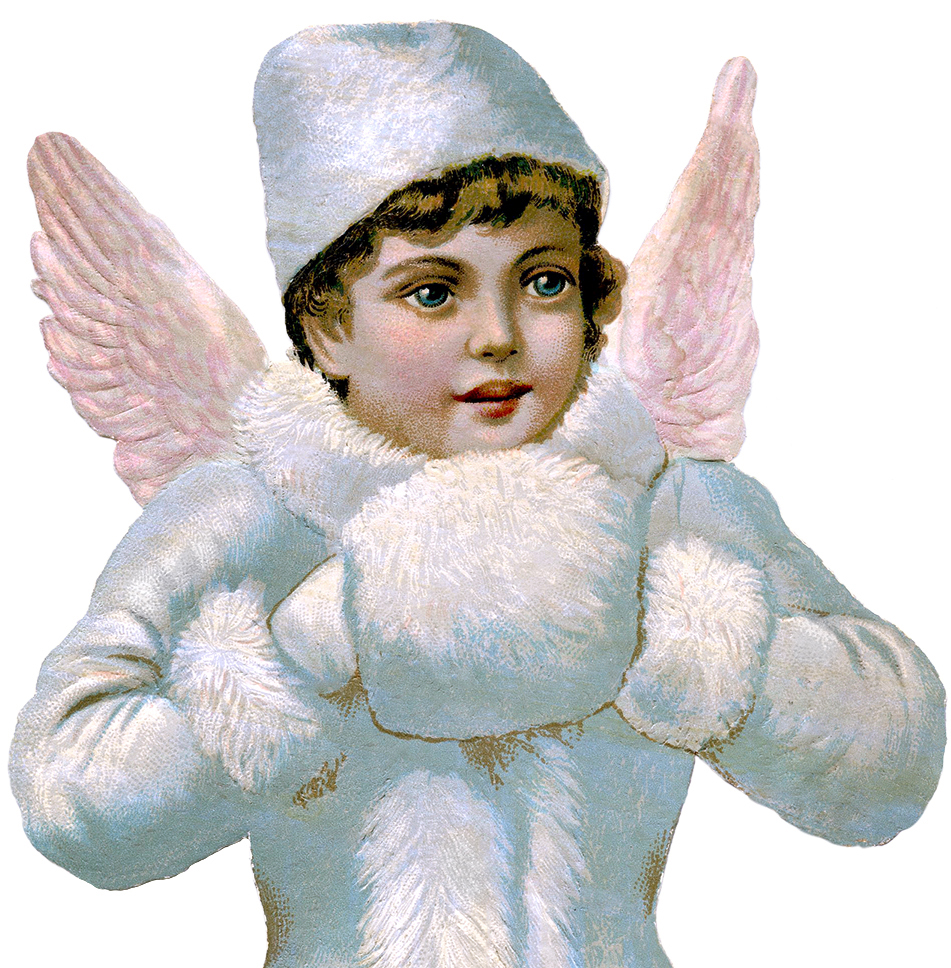 Gorgeous Victorian Scrap Angel Image