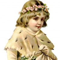 Victorian Snow Girl Image