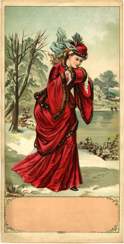 Victorian Winter Lady Image