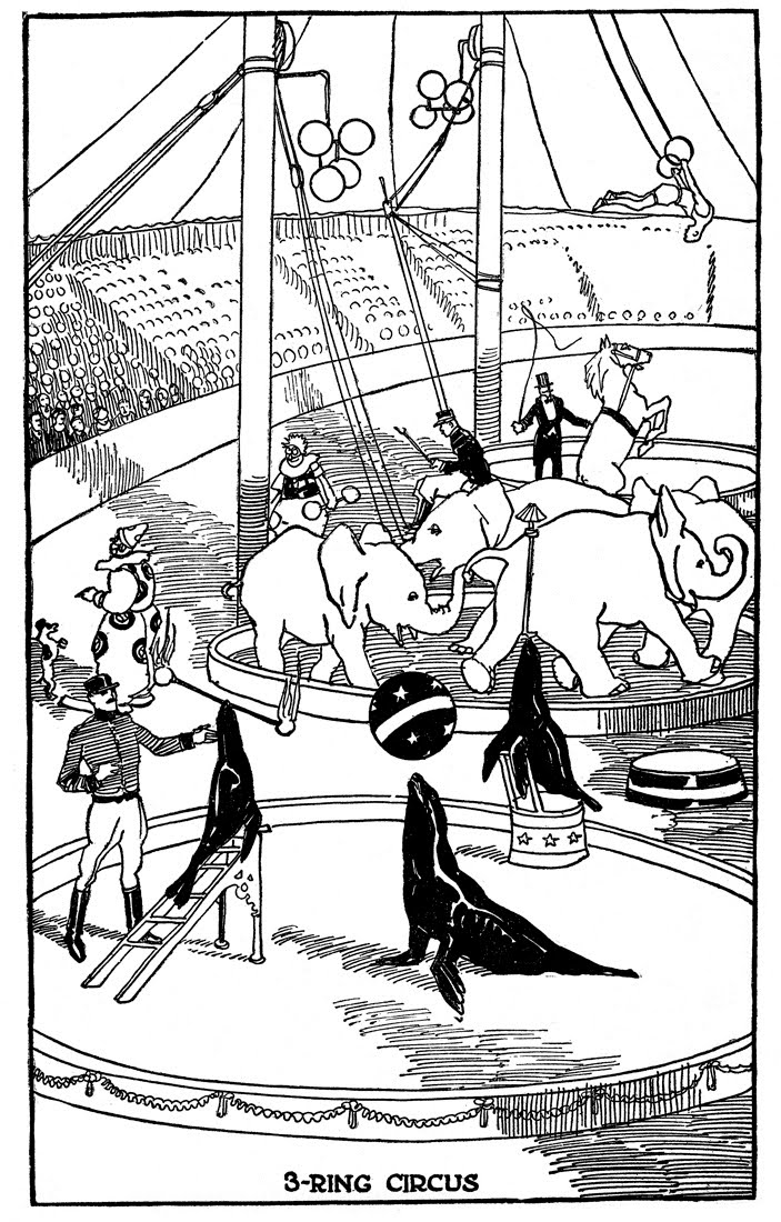 coloring pages of circus - photo#37
