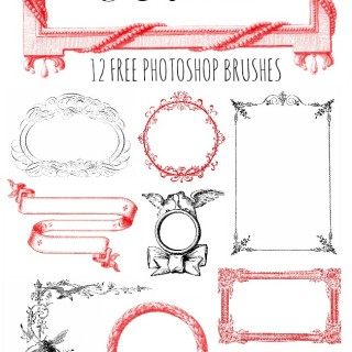Fancy Frames and Ribbons Free Photoshop Brushes