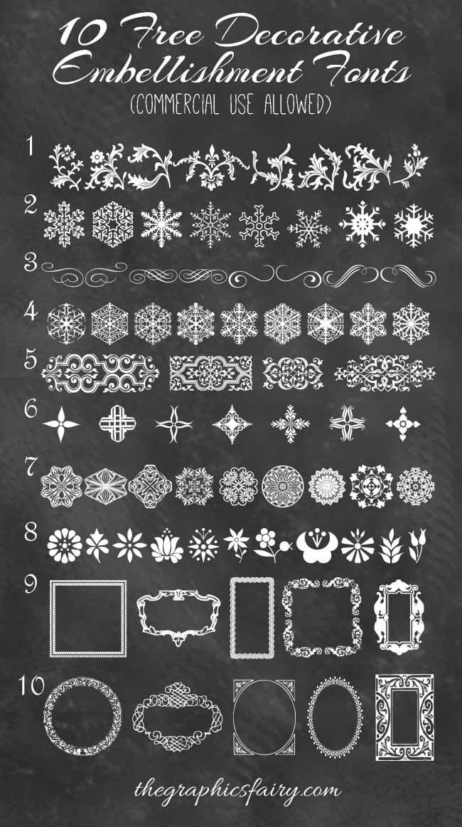 10 Best Decorative Embellishment Fonts Commercial Use