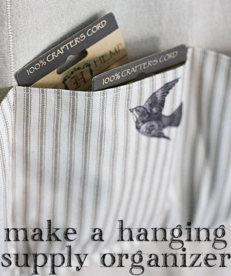 Sew a Hanging Supply Organizer