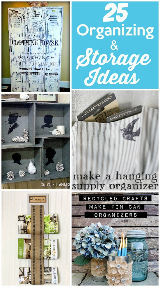 25 Organizing & Storage Ideas - The Graphics Fairy