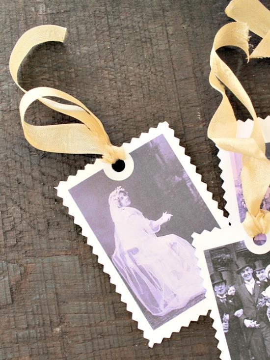 Vintage Wedding Gift Tags