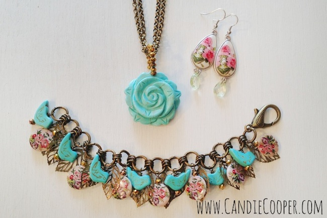 Candie Cooper DIY Bird and Flower Jewelry Set