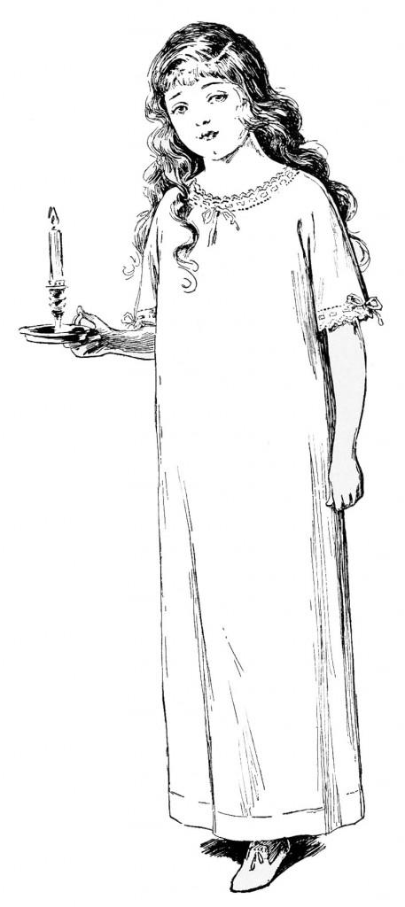 Edwardian Nightgown Girl
