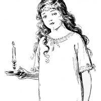 Edwardian Nightgown Fashion Girl
