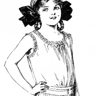 Sweet Edwardian Slip Girl