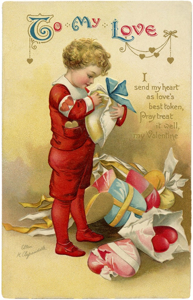 Charming Ellen Clapsaddle Valentine - The Graphics Fairy