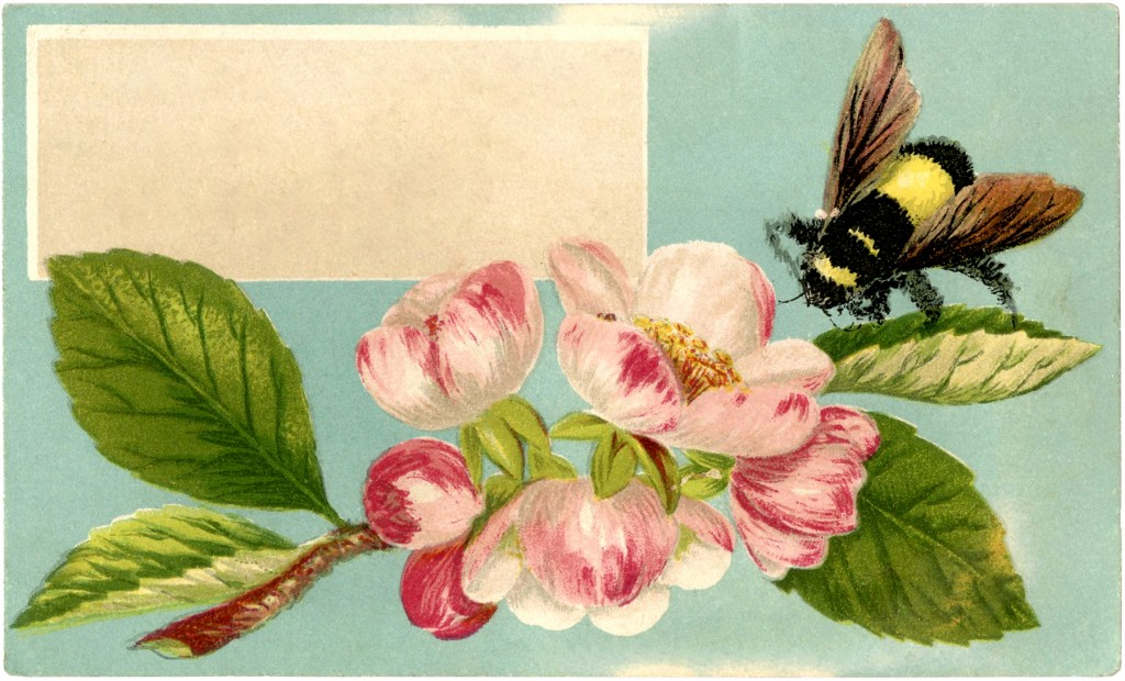 Free Bumble Bee Label