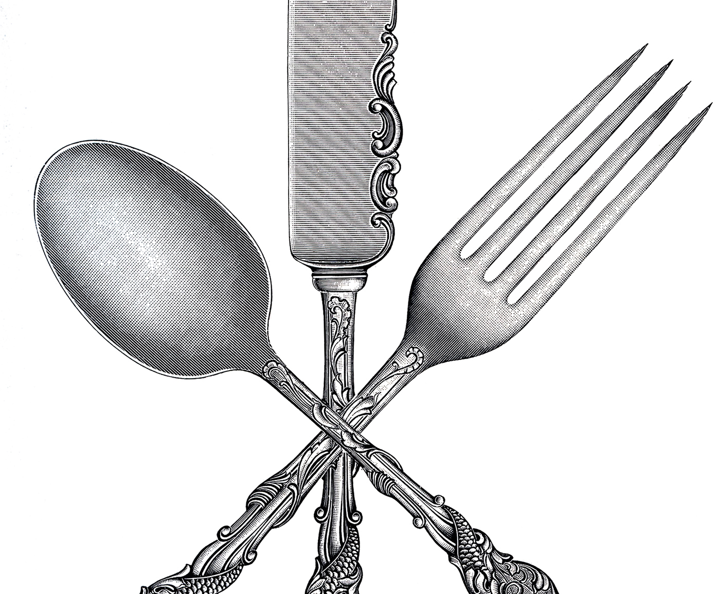 Free Fork Spoon Knife Clip Art - The Graphics Fairy: thegraphicsfairy.com/free-fork-spoon-knife-clip-art