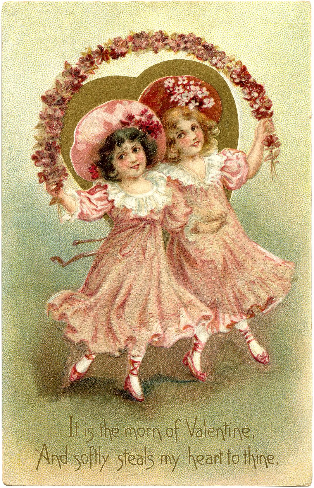 Free Vintage Valentine Image The Graphics Fairy – Vintage Victorian Valentine Cards