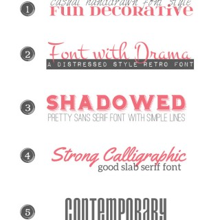 Favorite Font Pairings (Part 2)