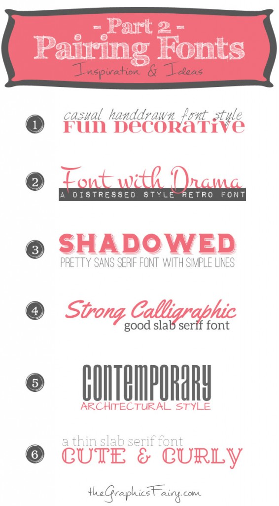 Favorite Font Pairings (Part 2)-The Graphics Fairy