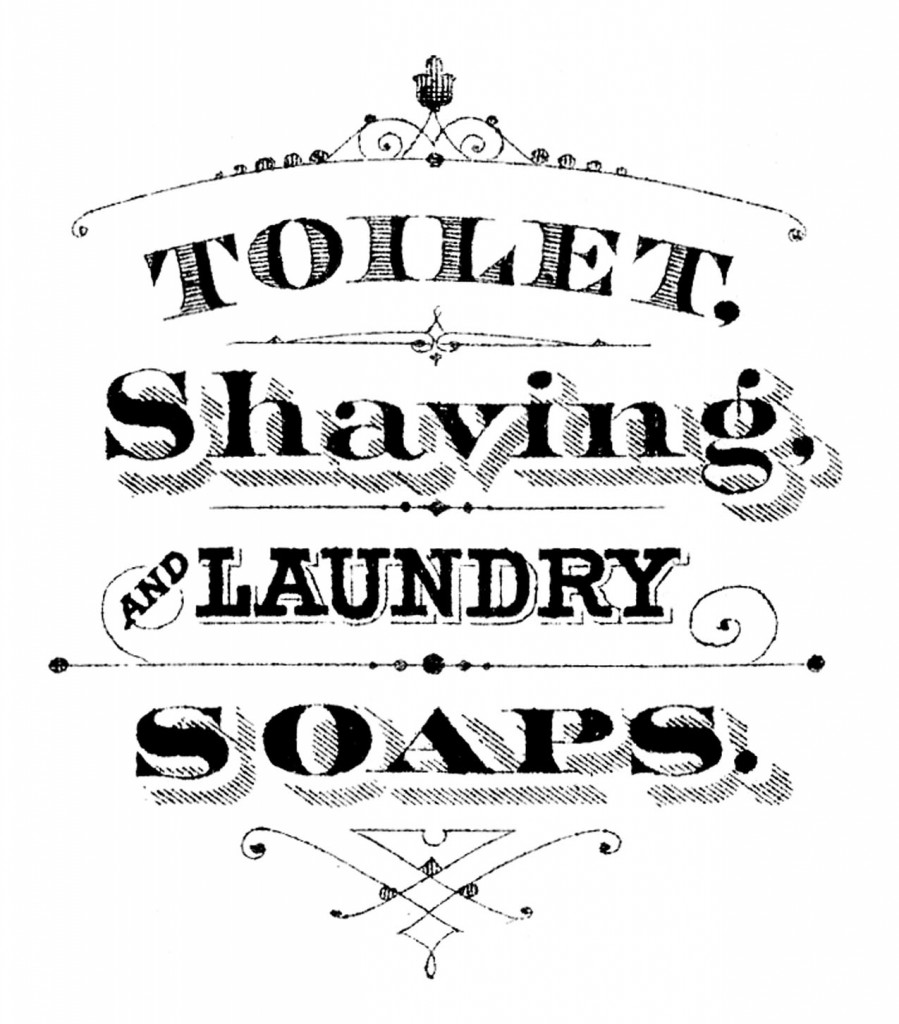 Printable Typography Soap Sign