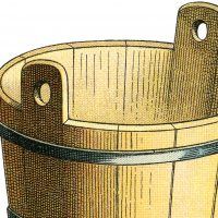 Old Wooden Bucket Image