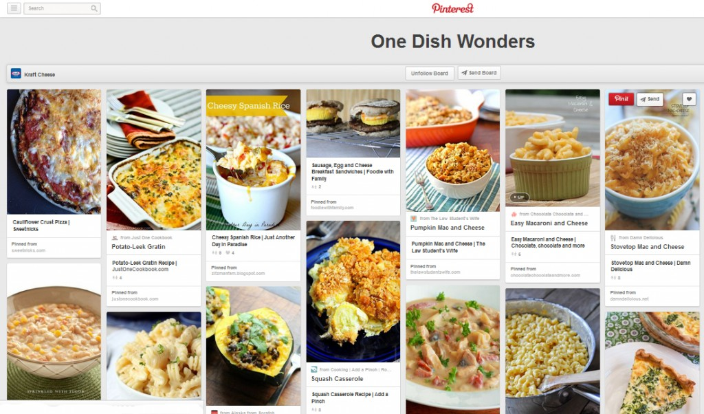 One Dish Meals Kraft Pinterest