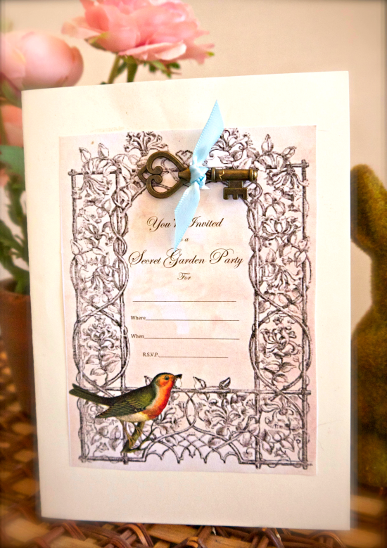 Secret Garden Tea Invitation