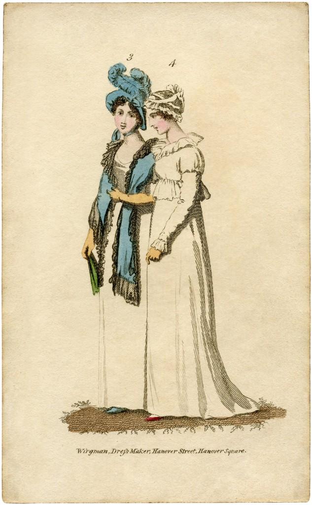 Regency Fashion Ladies Print
