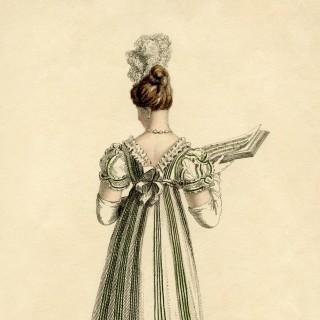 Regency Period Evening Dress