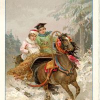 Vintage Sleigh Ride Image