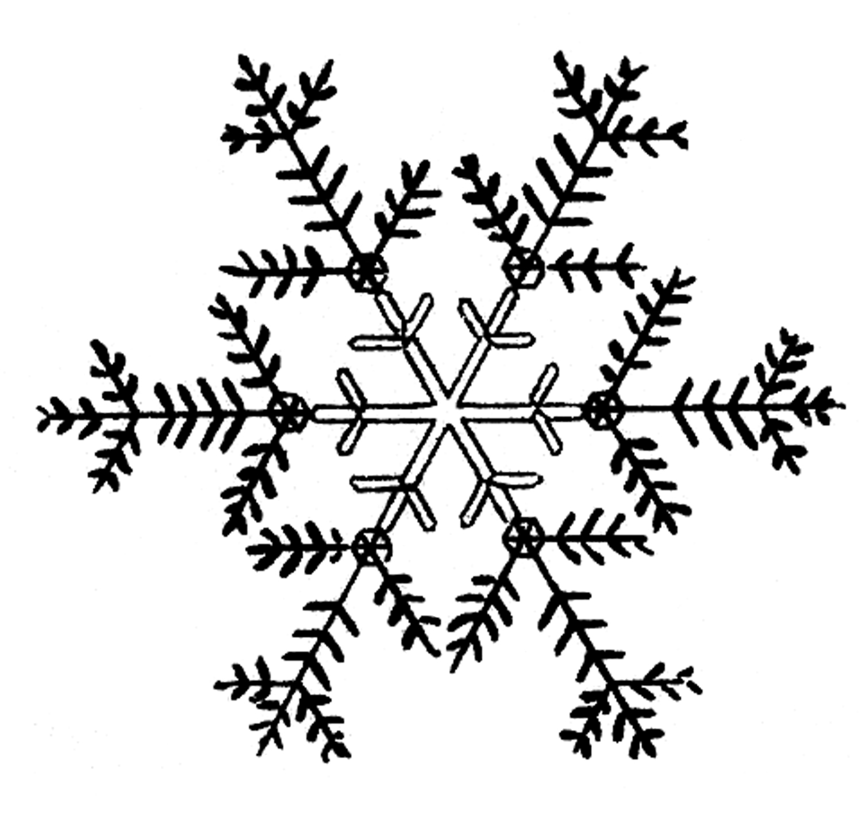 Back > Pix For > Snowflake Clip Art Black And White