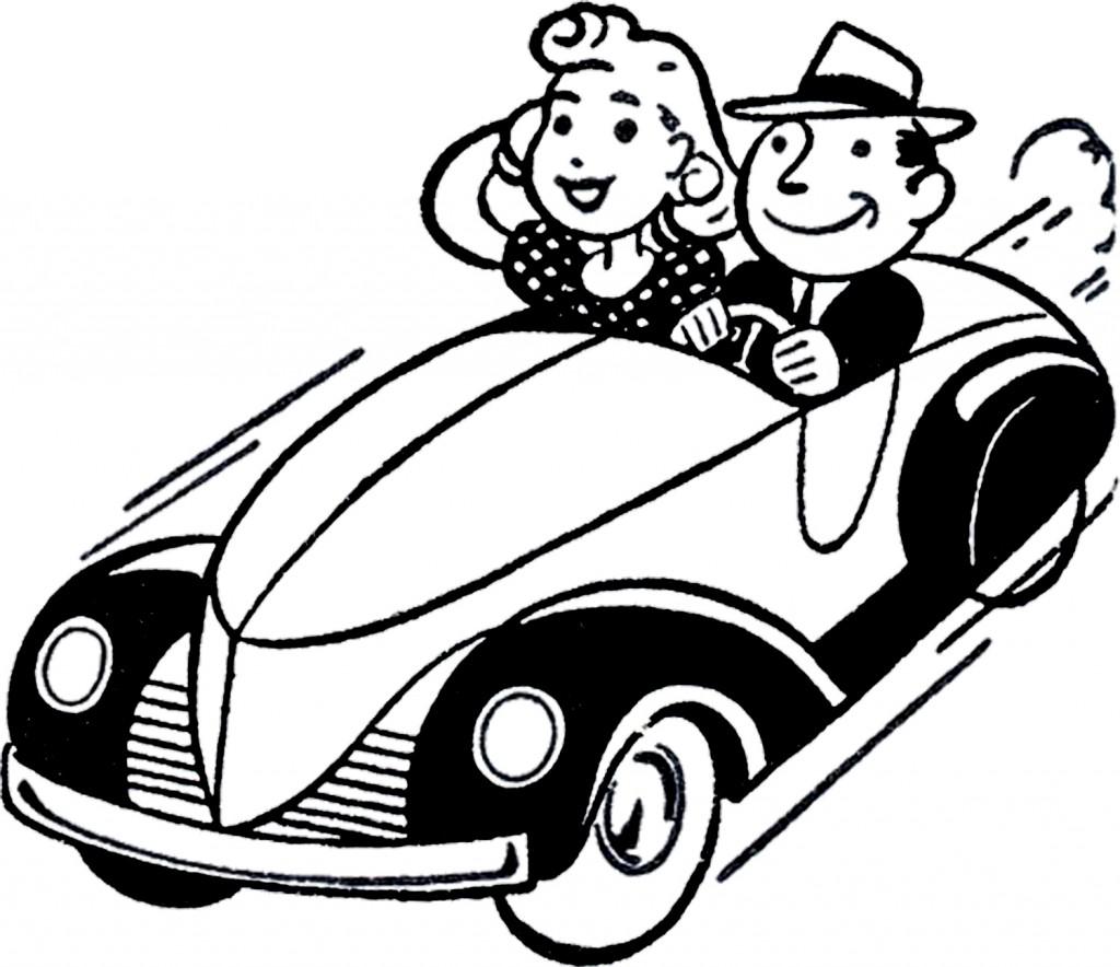 Vintage Car Images Sunday Drive