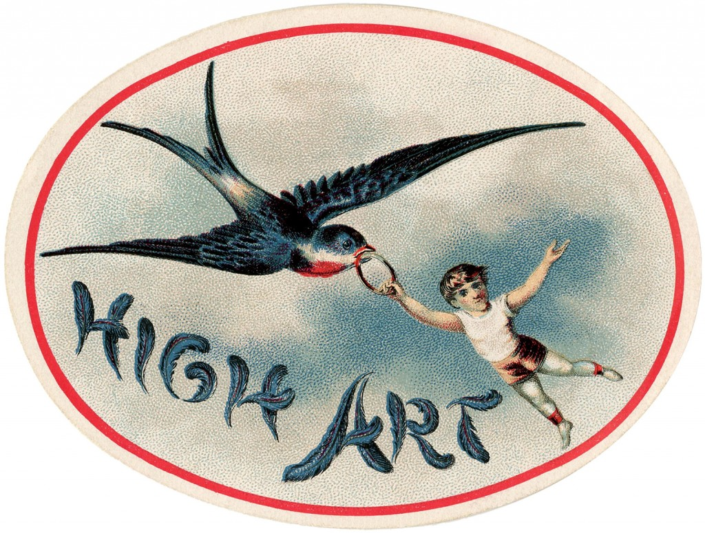 Fantastic Swallow Bird Label The Graphics Fairy