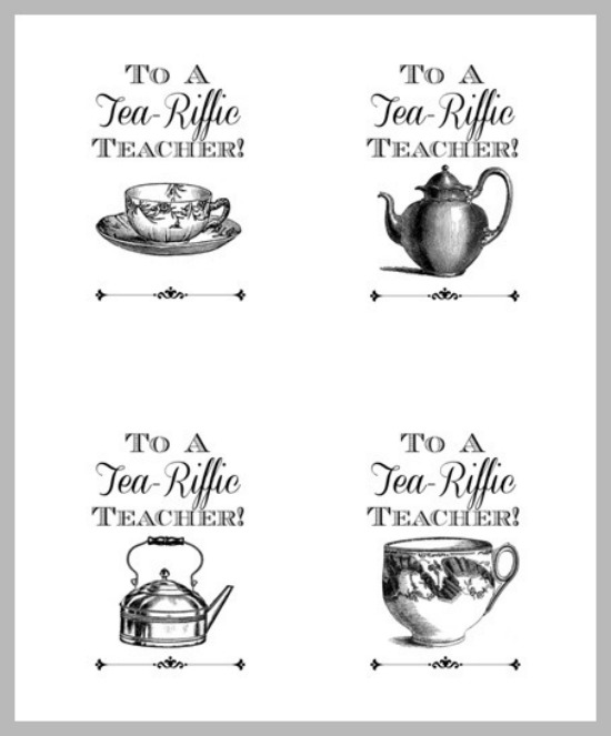 To a tea riffic teacher free printable gift tags the silly pearl to a tea riffic teacher free printable gift tags the silly pearl negle Images