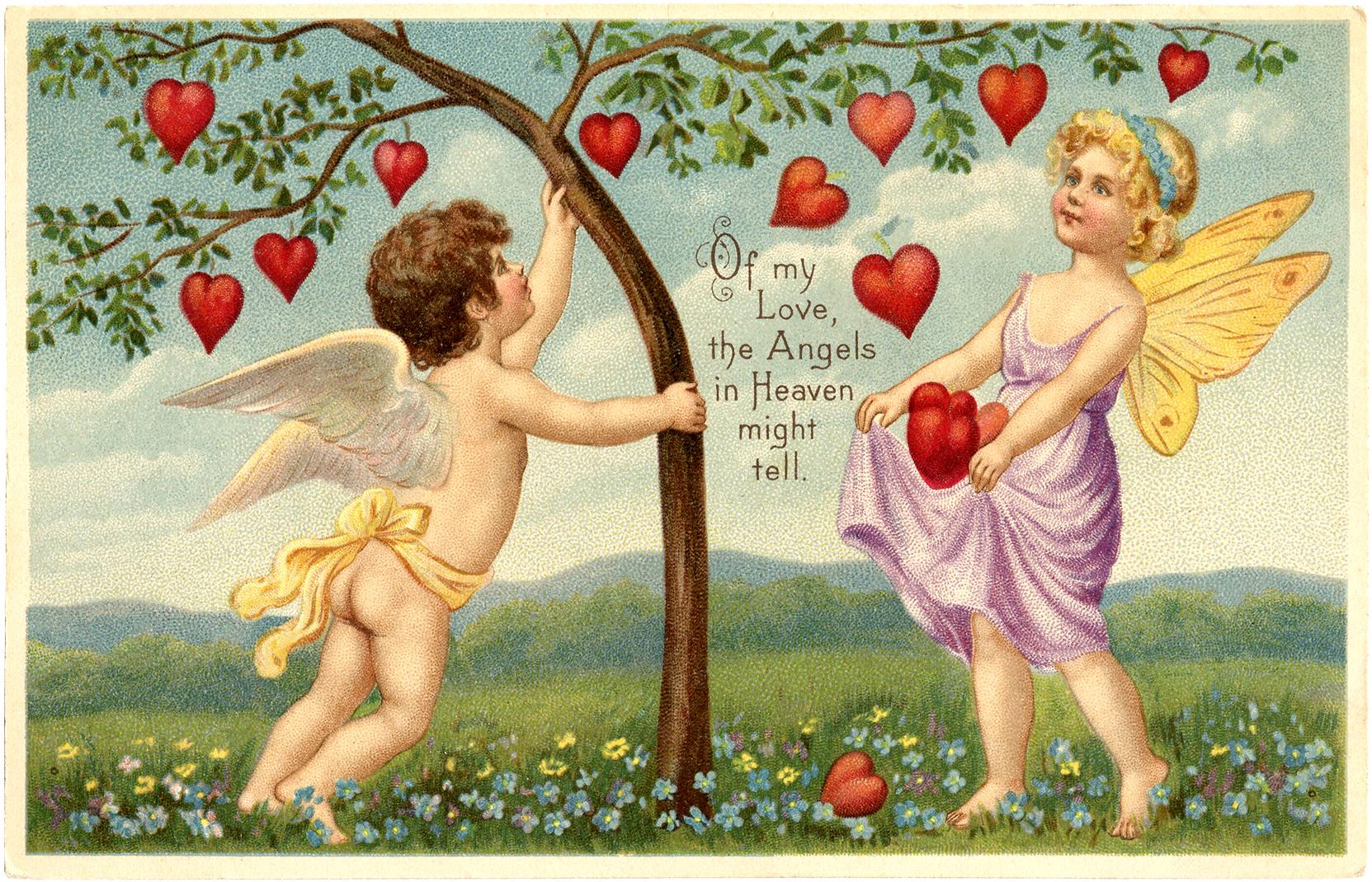 картинки ангелов ко дню святого валентина невероятное приложение