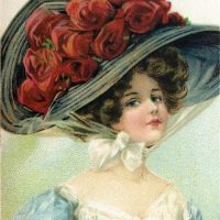 Victorian Hat Lady Image