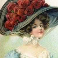 Victorian Hat Lady Image
