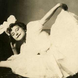 Adorable Vintage Ballerina Photo