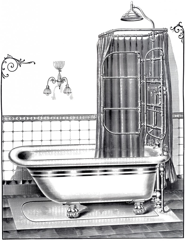 Vintage Bathtub Printable