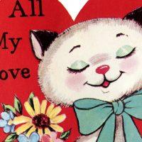 Vintage Cat Valentine Image
