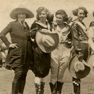 Amazing Vintage Cowgirls Photograph!