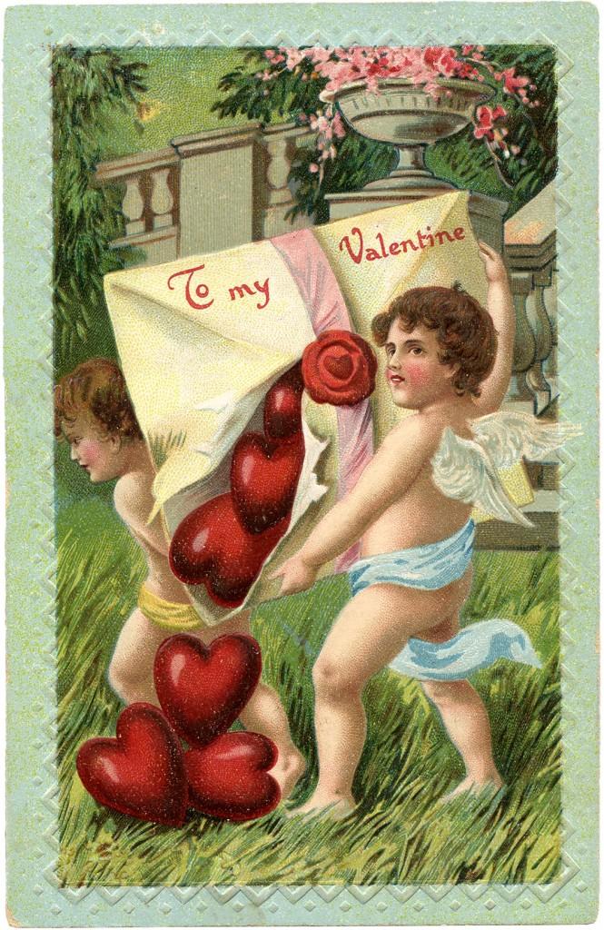 Vintage Cupids Valentine