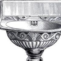 Vintage Pedestal Sink Clip Art