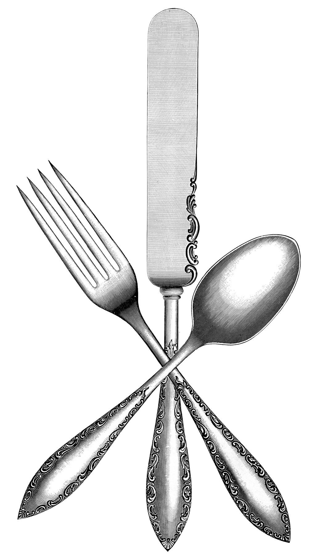 Vintage Silverware Image The Graphics Fairy