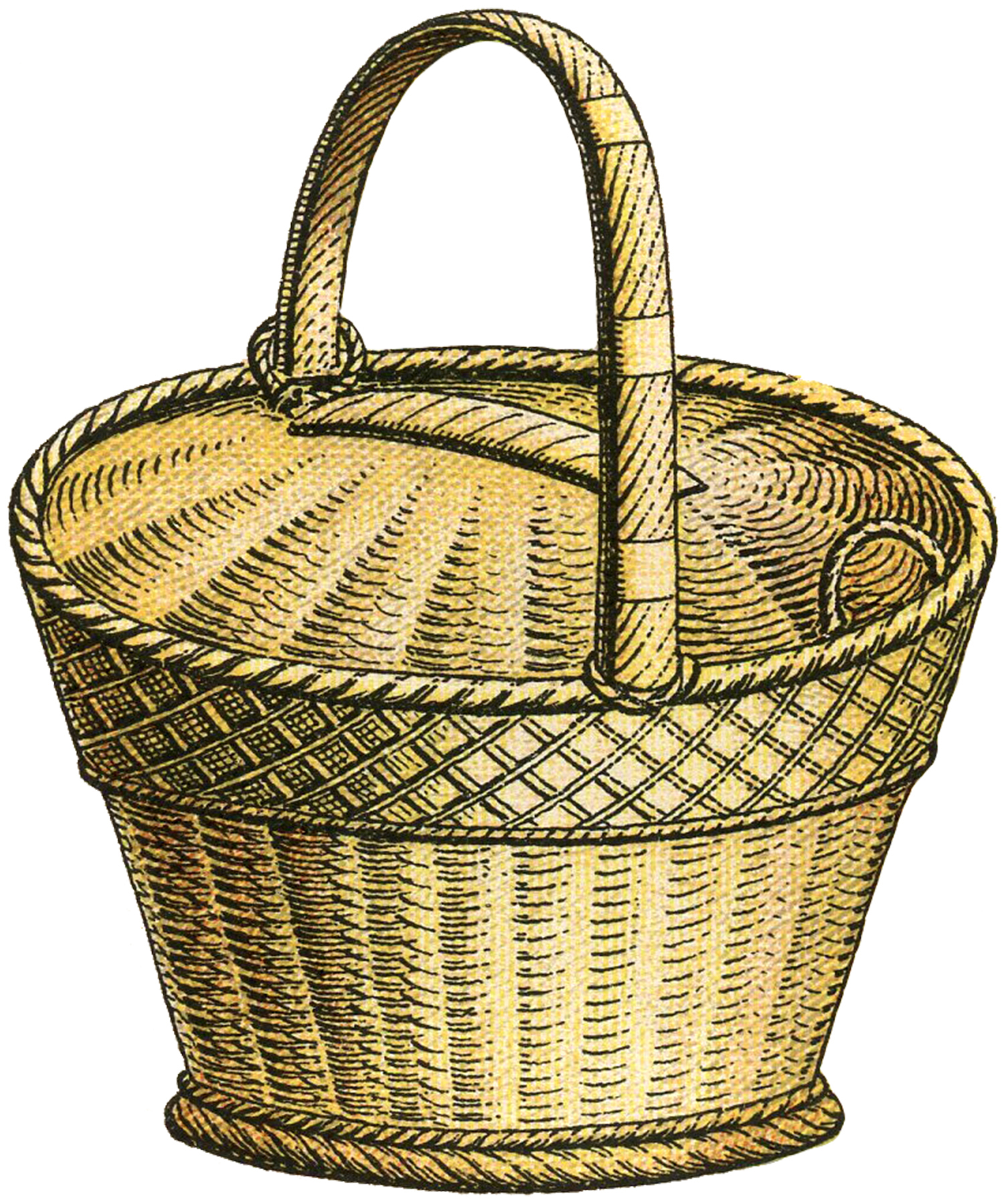 Wicker basket image the graphics fairy for Clipart basket
