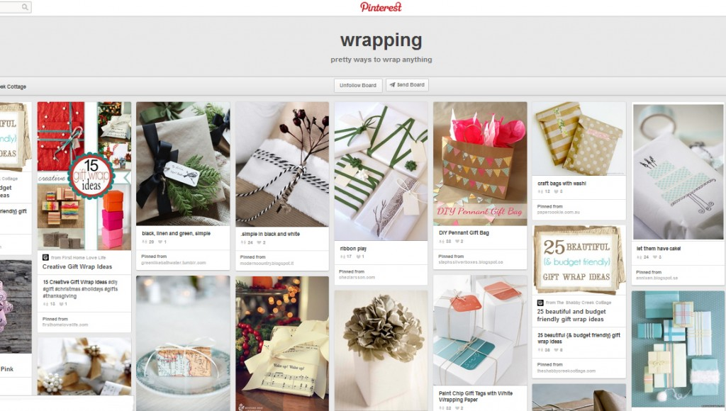 Wrapping Pinterest Shabby Creek Cottage
