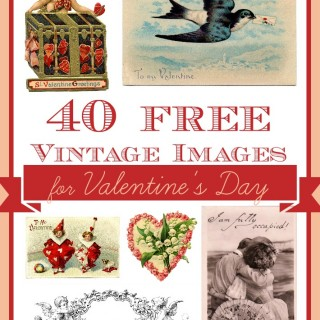 photo regarding Free Printable Vintage Valentine Cards called Satisfied Valentines Working day Pics Archives - The Graphics Fairy