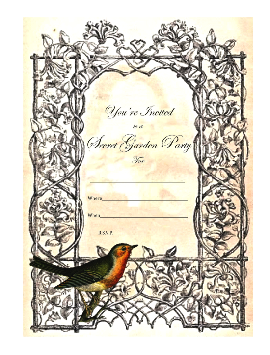 Secret Garden Tea Party Invitations - Reader Featured Project