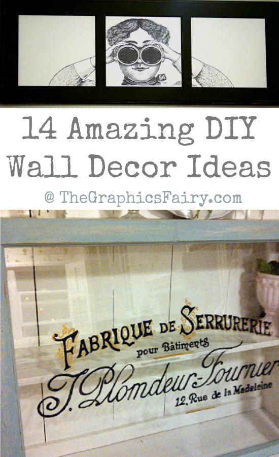 14  Amazing DIY Wall Decor Ideas